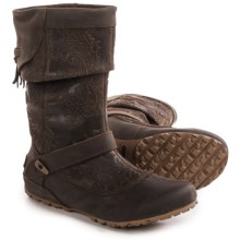 Merrell Haven Pull Boots - Leather (For Women) in Brown - Closeouts