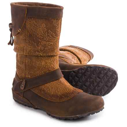 Merrell Haven Pull Boots - Leather (For Women) in Oak - Closeouts
