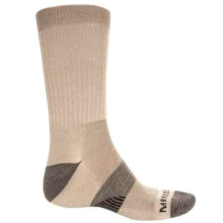 Merrell Hiker Socks - Merino Wool, Crew (For Men) in Oatmeal - Closeouts