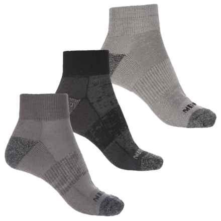 Merrell Hiker Socks - Quarter Crew, 3-Pack (For Women) in Charcoal/Black - Closeouts