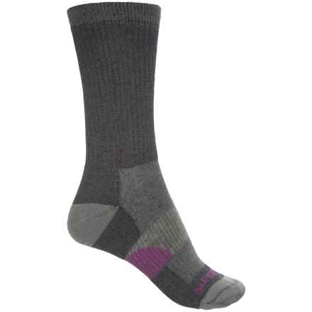 Merrell Hiking Socks - Merino Wool, Crew (For Women) in Black - Closeouts