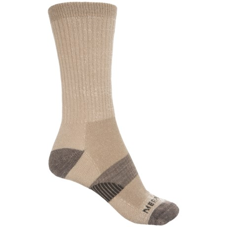 Merrell Hiking Socks - Merino Wool, Crew (For Women) in Oatmeal