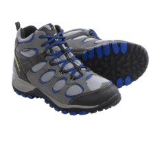 Merrell Hilltop Ventilator Hiking Boots - Waterproof (For Little and Big Kids) in Grey/Black/Royal - Closeouts
