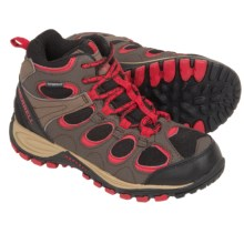 Merrell Hilltop Ventilator Hiking Boots - Waterproof (For Little Kids) in Brown/Red - Closeouts