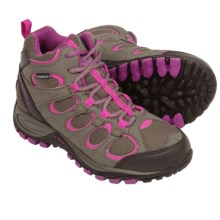 Merrell Hilltop Ventilator Hiking Boots - Waterproof (For Little Kids) in Grey/Berry - Closeouts