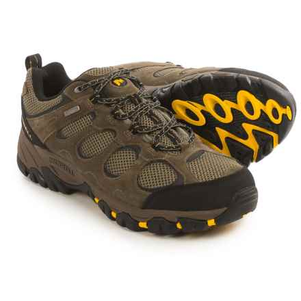 Merrell Hilltop Ventilator Hiking Shoes - Waterproof, Suede (For Men) in Bungee Cord/Old Gold - Closeouts