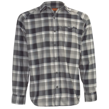 Merrell Hoffmann Plaid Shirt - UPF 30+, Long Sleeve (For Men) in Basalt Plaid