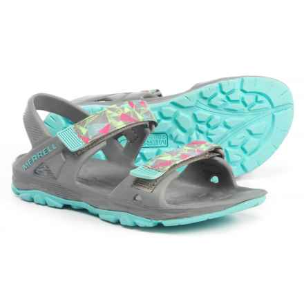 Merrell Hydro Drift Sandals (For Girls) in Grey/ Multi - Closeouts