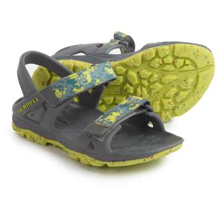 Merrell Hydro Drift Sandals (For Infant and Toddler Boys) in Grey/Lime - Closeouts