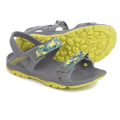 Merrell Hydro Drift Sport Sandals (For Youth Boys) in Grey/Lime