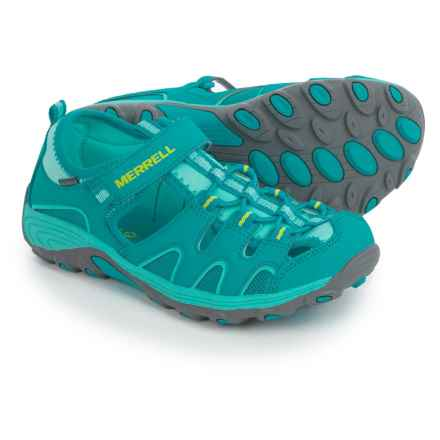 Merrell Hydro H20 Hiker Sport Sandals - Leather, Amphibious (For Little and Big Girls) in Turquoise - Closeouts
