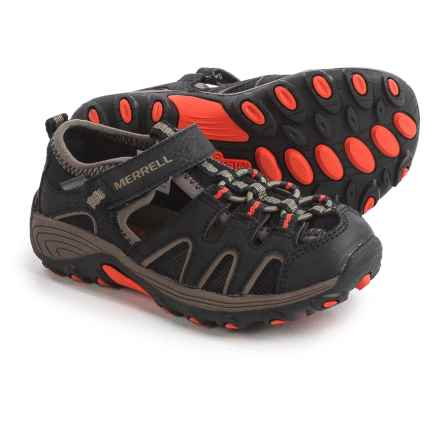 Merrell Hydro H2O Hiker Sport Sandals - Waterproof, Leather (For Little and Big Boys) in Black/Gunsmoke/Orange - Closeouts