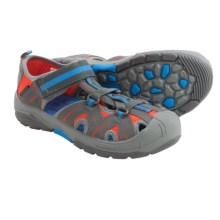 Merrell Hydro Hiker Sport Sandals - Leather, Amphibious (For Big Boys) in Grey/Blue - Closeouts