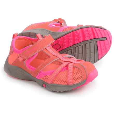 Merrell Hydro Monarch Junior Water Sandals - Leather and Mesh (For Little and Big Girls) in Coral - Closeouts