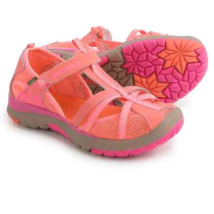 Merrell Hydro Monarch Sandals (For Little and Big Girls) in Coral - Closeouts