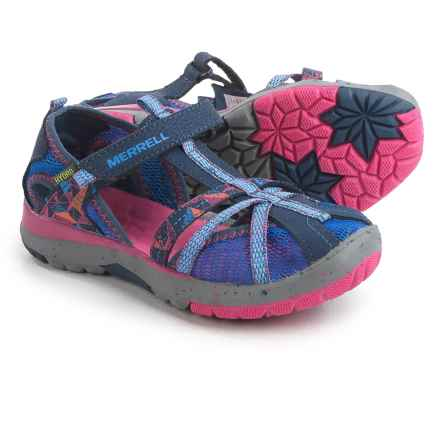 Merrell Hydro Monarch Sandals (For Little and Big Girls) in Navy - Closeouts