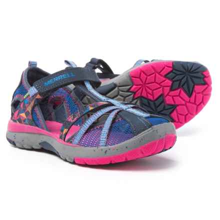 Merrell Hydro Monarch Sandals (For Youth Girls) in Navy - Closeouts