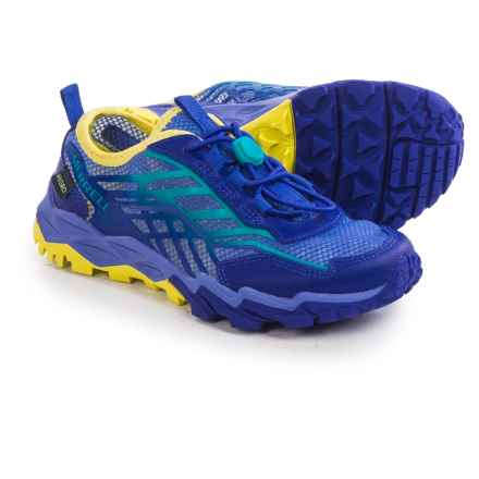 Merrell Hydro Running Shoes - Leather (For Little and Big Kids) in Blue/Turquoise/Yellow - Closeouts