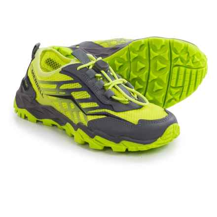 Merrell Hydro Running Shoes - Leather (For Little and Big Kids) in Citron/Grey - Closeouts