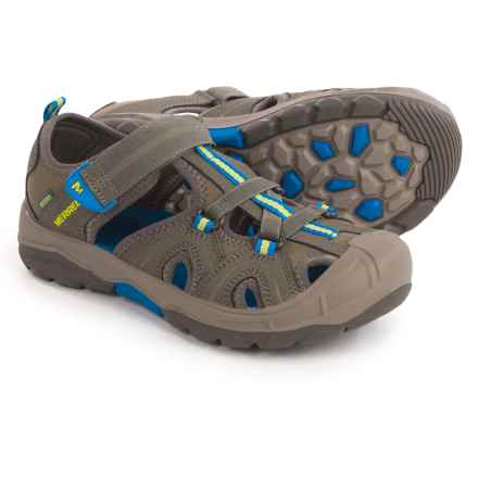 Merrell Hydro Water Sandals (For Big Boys) in Gunsmoke - Closeouts