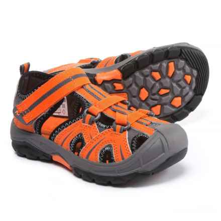 Merrell Hydro Water Sandals - Leather (For Little and Big Boys) in Orange/Grey - Closeouts