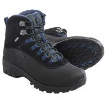 Merrell Icerig Clip Shell Snow Boots - Waterproof, Insulated (For Men) in Black/Dark Denim - Closeouts