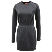 Merrell Indira Mixer Dress - Long Sleeve (For Women) in Basalt Heather - Closeouts
