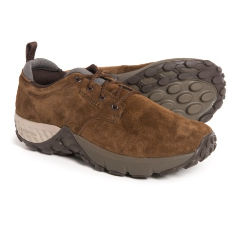 Merrell Jungle Lace AC+ Shoes - Pig Suede (For Men) in Dark Earth