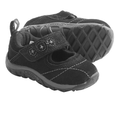 Merrell Jungle Moc Burst 2 Mary Jane Shoes (For Infant and Toddler Girls) in Black
