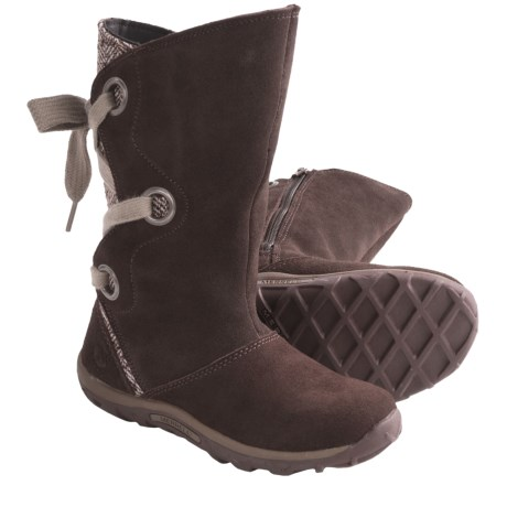 Merrell Jungle Moc Lace Boots (For Girls ) in Espresso