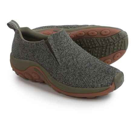 Merrell Jungle Moc Mesh Shoes - Slip-Ons (For Men) in Dusty Olive - Closeouts