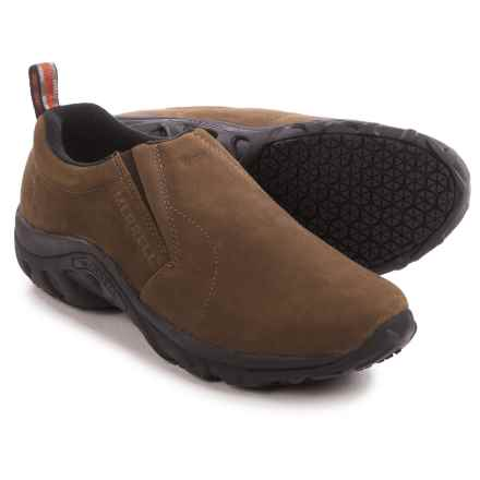 Merrell Jungle Moc Pro Grip Work Shoes - Nubuck (For Men) in Brown - Closeouts