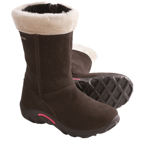 Merrell Jungle Moc Puff Snow Boots - Waterproof, Insulated (For Girls) in Espresso