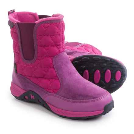 Merrell Jungle Moc Quilted Boots (For Little and Big Girls) in Berry - Closeouts