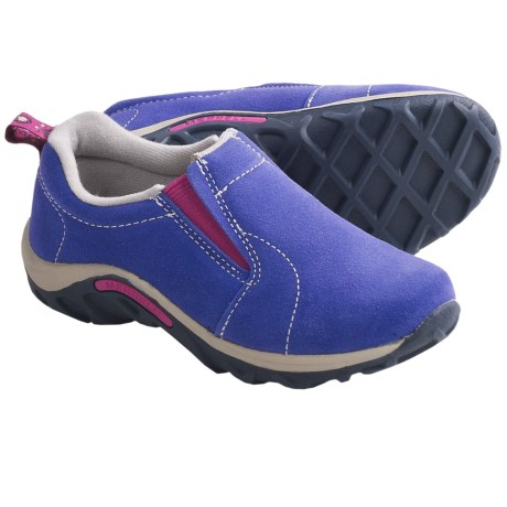 Merrell Jungle Moc Shoes - Suede (For Boys and Girls) in Blue Iris