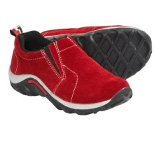Merrell Jungle Moc Shoes - Suede (For Boys and Girls) in Scarlet - Closeouts