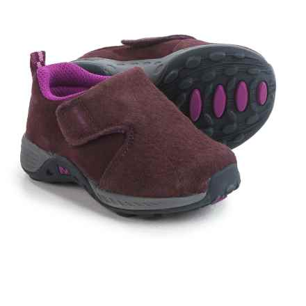 Merrell Jungle Moc Sport AC Shoes - Suede (For Little Kids) in Berry/Grey - Closeouts