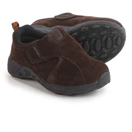 Merrell Jungle Moc Sport AC Shoes - Suede (For Little Kids) in Brown/Black - Closeouts