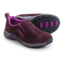 Merrell Jungle Moc Sport Shoes - Suede (For Little and Big Kids) in Berry/Grey - Closeouts