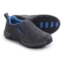 Merrell Jungle Moc Sport Shoes - Suede (For Little and Big Kids) in Grey/Blue - Closeouts