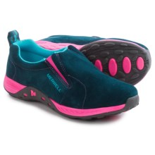 Merrell Jungle Moc Sport Shoes - Suede (For Little and Big Kids) in Navy/Pink - Closeouts