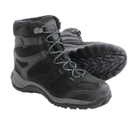 Merrell Kiandra Snow Boots - Waterproof, Insulated (For Men) in Black - Closeouts