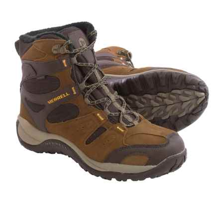 Merrell Kiandra Snow Boots - Waterproof, Insulated (For Men) in Dark Earth - Closeouts