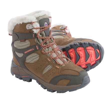 Merrell Kiandra Snow Boots - Waterproof, Insulated (For Women) in Dark Earth - Closeouts