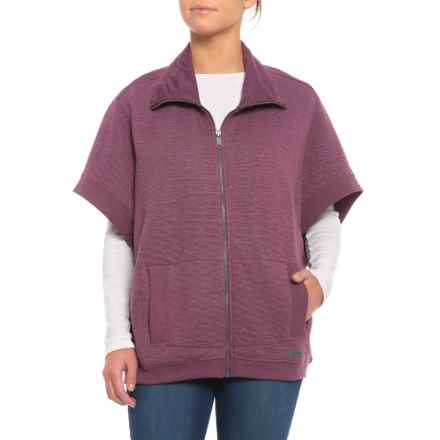Merrell Kota Quilted Poncho (For Women) in Prune Purple Heather - Closeouts