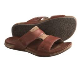 Merrell Lancet Slide Sandals - Leather (For Men) in Twill