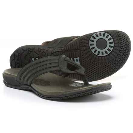 Merrell Lidia Thong Sandals - Leather (For Women) in Black - Closeouts