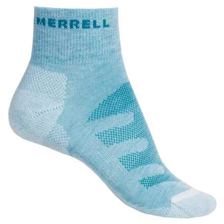 Merrell Lithe Glove Mini-Crew Socks - Quarter Crew (For Women) in Open Blue Heather - Closeouts