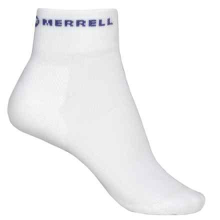 Merrell Lithe Glove Mini-Crew Socks - Quarter Crew (For Women) in White - Closeouts
