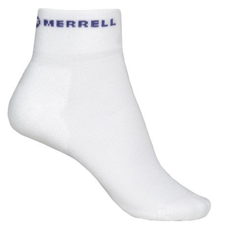 Merrell Lithe Glove Mini-Crew Socks - Quarter Crew (For Women) in White